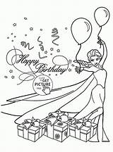 Coloring Birthday Card Cards Happy Drawing Printable Elsa Template Folding Frozen Holiday Printables Disney Princess Templates sketch template