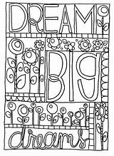 Coloring Pages Doodle Sharpie Dream Printable Journal Adult Colouring Sheets Books Adults Bullet Google Nice Colorings Quote Bestcoloringpagesforkids Doodles Patterns sketch template