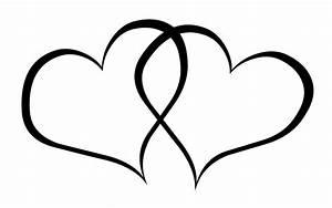 Love Heart Clipart Black And White - clipartsgram.com