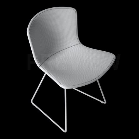bertoia side chair with cover knoll 3d model max