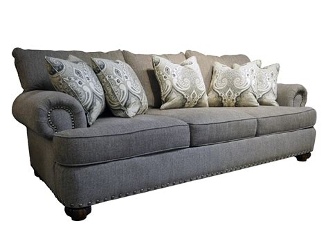 flexsteel patterson sofa price flexsteel patterson 7322 31 stationary sofa with nailhead