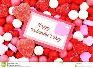 Happy Valentines Day stock image. Image of heart, message ...
