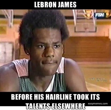 Lebron James Hairline Meme - raise your hand the 50 meanest lebron james hairline memes of all time complex