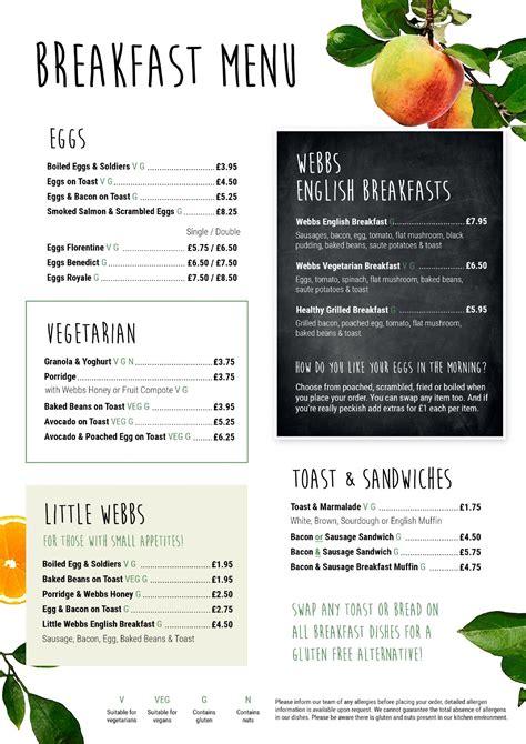 The Restaurant  Breakfast, Lunch & Afternoon Tea Webbs