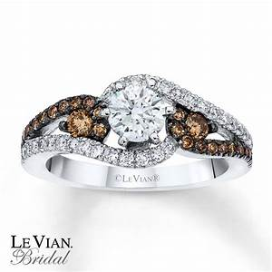kay le vian engagement ring chocolate diamonds 14k With chocolate diamond wedding ring