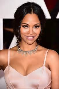 two diamond ring zoe saldana 39 s oscars 2015 carpet jewelry