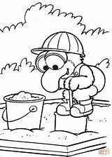 Coloring Pages Baby Playing Gonzo Sandbox Sand Muppet Babies Games Silhouettes Printable sketch template