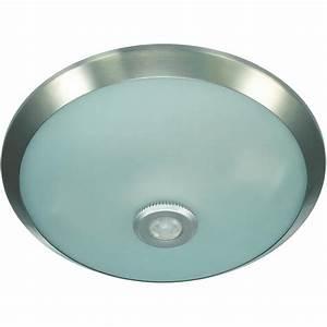 E chrome ceiling light with motion sensor from conrad