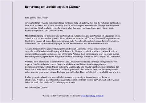 Bewerbung Ausbildung Garten Und Landschaftsbau Anschreiben by G 228 Rtner Im Garten Und Landschaftsbau Bewerbung Muster Ok