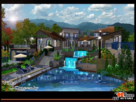 villa queenly unfurnished   sims resource sims