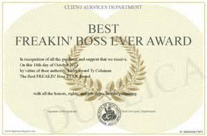 information about best boss award