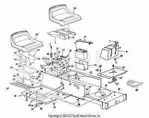 Mtd 13a4660f131  1998  Parts Diagram For Frame  Seat  Fuel Tank