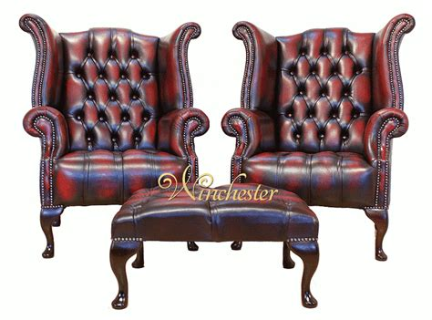 chesterfield offer buttoned seat pair high back