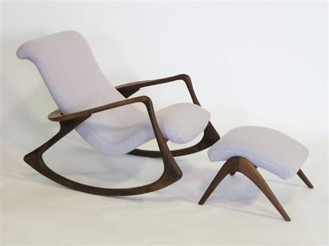 chaise allaitement contour rocking chair and ottoman by vladimir kagan at 1stdibs