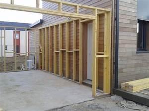 Garage Ossature Bois : garage ossature bois bardage en red c dar menuiserie ~ Melissatoandfro.com Idées de Décoration