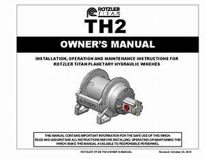 Pdf  Rotzler Titan Th2 Owner U0026 39 S Manual Owner U0026 39 S Manual Th2