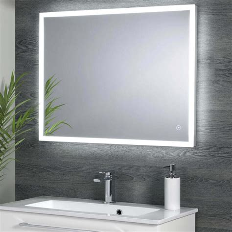 X On Bathroom Mirror by Harbour Glow Led Mirror With Demister Pad 800 X 600mm