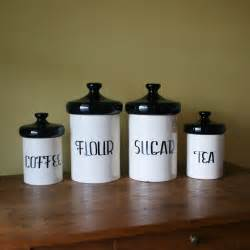vintage black and white ceramic canister set designs - Black Kitchen Canister Set
