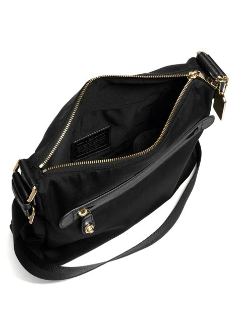 coach nylon crossbody bag  black lyst
