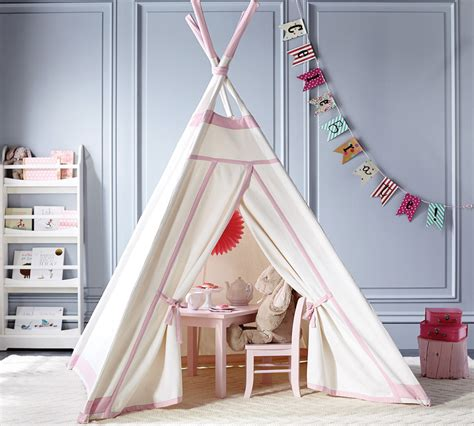 pottery barn teepee child s play must haves for the playroom palm