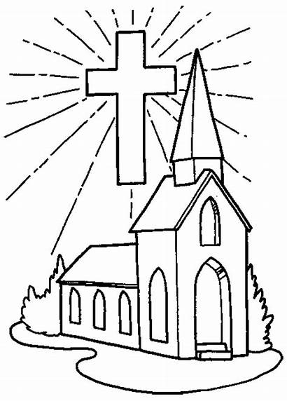 Coloring Pages Church Printable Popular Christian