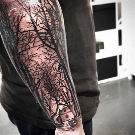 Blumen Tattoo Arm Schwarz Weiss Tattoo Art