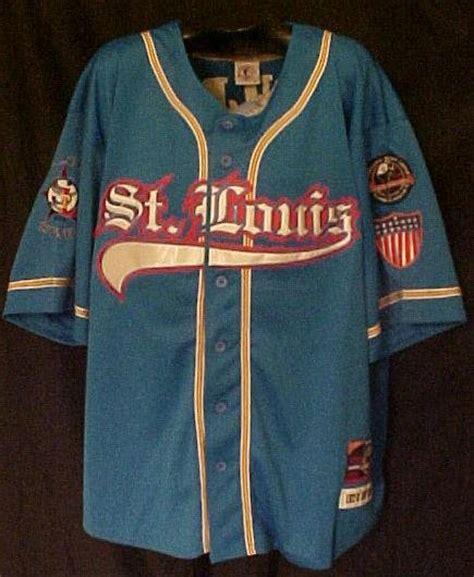 pnlpa stlouis stars blue jersey  negro baseball xl