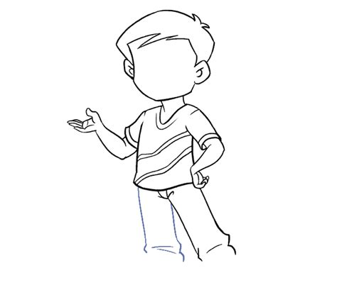 draw  boy    easy steps easy drawing guides