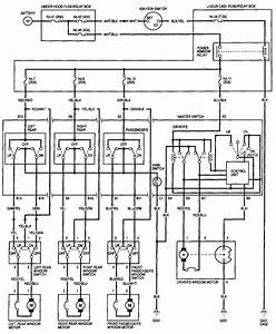 Wiring Diagram 1996 Honda Civic Si  Power Windows Not Working
