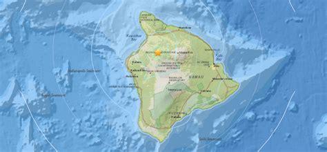 earthquake hits south kohala  hawaii island