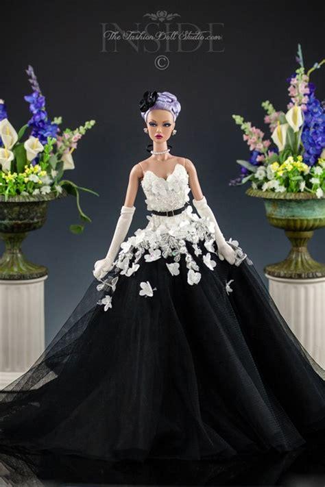 black  white ball gown   fashion doll studio