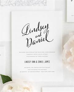 Modern Script Wedding Invitations Wedding Invitations By
