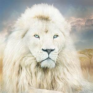White Lion - Spirit Of Goodness Mixed Media by Carol Cavalaris