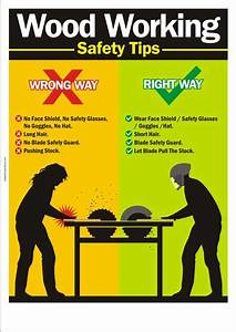 Woodworking safety poster : Woodworking Safety Tips