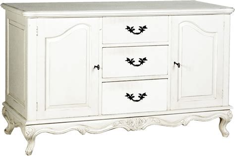 Provencal Classic French Sideboard Cabinet Antique White