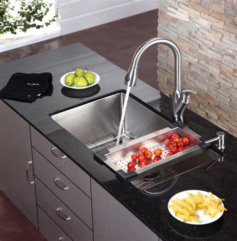 the kitchen sink nyc kraus kitchen sink colander modern colanders and
