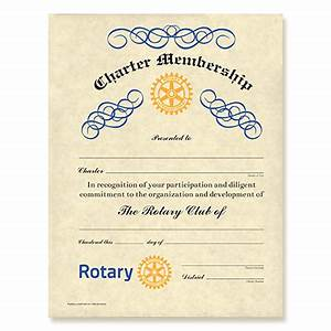 rotary certificates With rotary club certificate template
