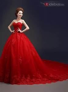 Robe Rouge Mariage Invité : robe de mari e rouge cath drale ch rie el gante dentelle ~ Farleysfitness.com Idées de Décoration