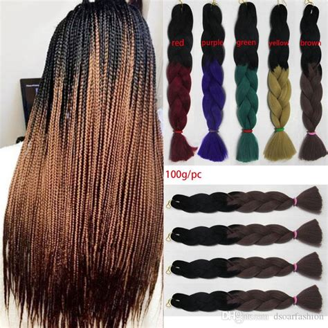 xpression hair colors xpression two tone ombre braiding hair kanekalon jumbo