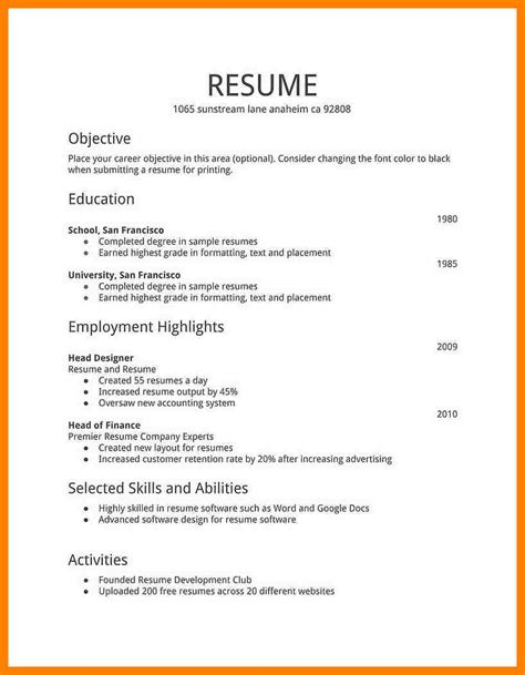 8 resume format for ats resuming