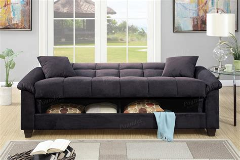 black fabric sofa bed poundex gertrude f7888 black fabric sofa bed steal a