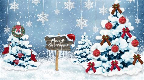 Full Hd Wallpaper Christmas Christmas Tree Snowflake