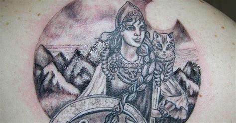 goddess freya tattoo  langelbleu  flickr