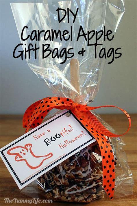 Make Caramel Apple Gift Bags & Tags