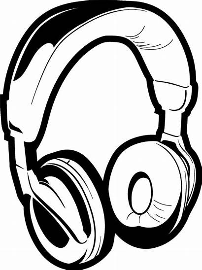 Headphones Dj Clipart Drawing Clip Headphone Head
