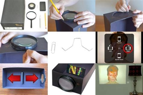 diy iphone projector how to make iphone projector with shoe box step by step