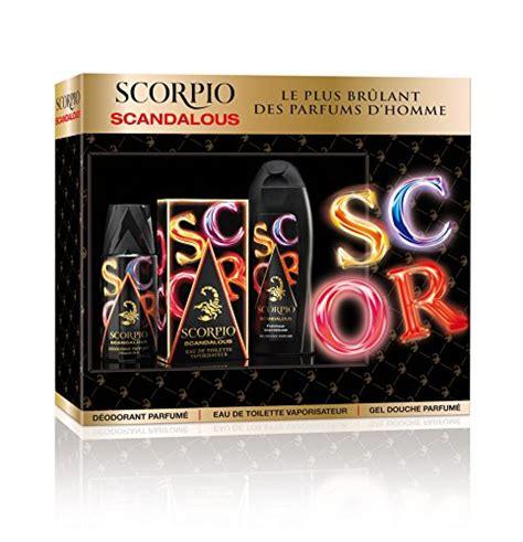 scorpio coffret 3 produits scandalous eau de toilette flacon de 75 ml gel 250 ml