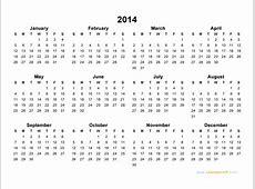 2014 Calendar Blank Printable Calendar Template in PDF
