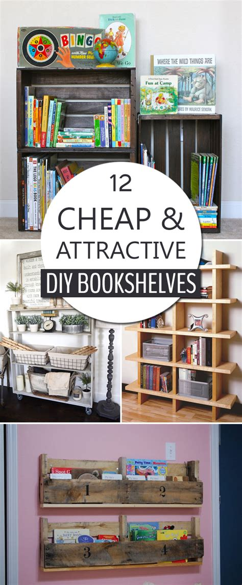 cheap  attractive diy bookshelves   build