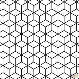 Coloring Tessellation Geometric Pattern Rhombus Printable Paper Dot sketch template